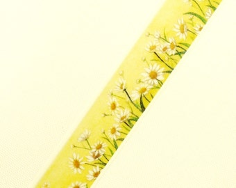 Yellow Daisy - Japanese Washi Masking Tape - 11 Yards