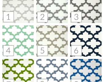 TWO Quatrefoil Curtain Panels. 25 or 50 Inch Widths. 63, 84, 96, 108, 120 Lengths. Moroccan Tiles. Window Treatments. Drapery Curtains.