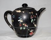 1920's Cold Painted Teapot