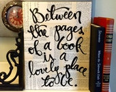 """9x12  Canvas -  """"Between the pages of a book..."""" - Vintage book page"""