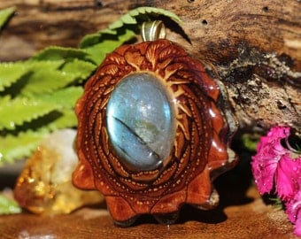 Labradorite Third Eye Pinecone Pendant