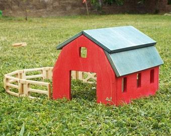 Wood Barn Playset Kit