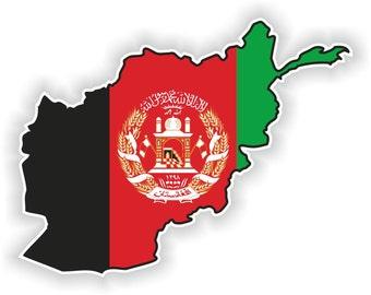 Afghanistan Map Flag Silhouette Sticker for Laptop Book Fridge Guitar Motorcycle Helmet ToolBox Door PC Boat