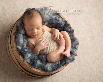 PDF Knitting Pattern - newborn Teddy sitter romper #149