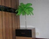 100 feathers Ostrich Green Feather Plume for Wedding centerpieces