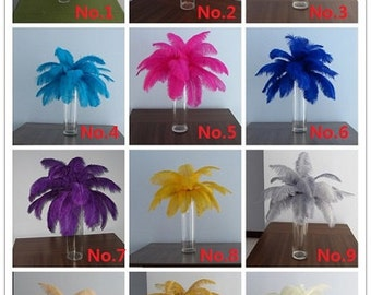 100pcs ostrich feather for wedding decorations AA quality