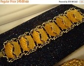 Christmas In July Sale Big Bold Beautiful Bracelet 1950's Mid Century Collectible Wide Chunky Retro Accessories Rockabilly Glamour Girl Holl