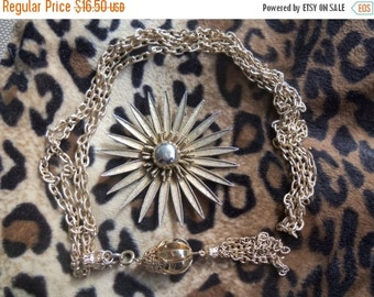 Now On Sale Vintage Brooch & Necklace Mad Men Mod Mid Century Modern Pendant Jewelry