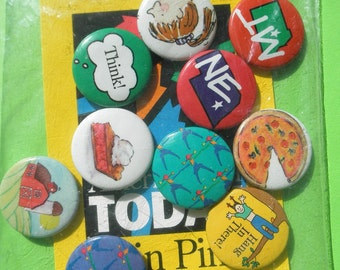 American Girl Today 10 Grin Button Pins New Vintage in Package Pleasant Company Collectible Metal Brooch