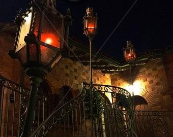 Stairwell lanterns 9x12 color photo print by Tayva Martinez