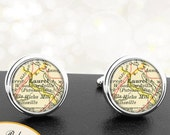 Cufflinks Laurel Maryland Handmade Cuff Links City State Maps MD Groomsmen Wedding Party Fathers Dads Men