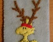 Peanuts Ornament Felt Christmas Woodstock Reindeer