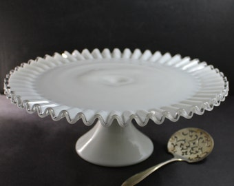 Fenton Silver Crest Footed Cake Plate 5813-SC