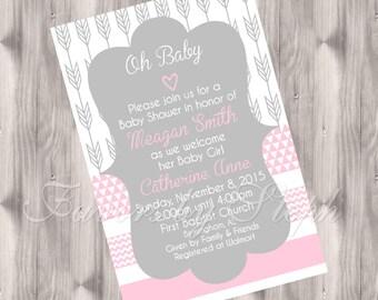 Arrow/Geometric Baby Shower Invitation - DIGITAL Invitation