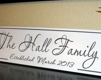 Family Established Wood Sign Personalized Wedding Gift Carved Wall Sign Wedding or Anniversary gift Personalized Family Name Sign Plaque