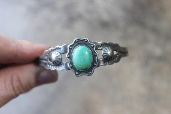 Arrow Cuff / Fred Harvey Era Style Bracelet / Early Southwest Coin Silver Jewelry