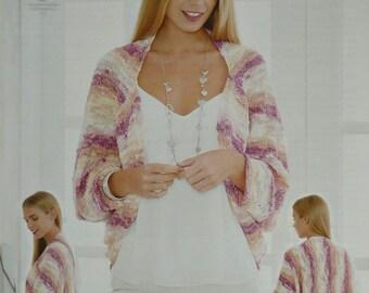 Womens Knitting Pattern K4477 Ladies Ladies Long Sleeve Shrug Knitting Pattern Opium Aran (Worsted Fancy) King Cole