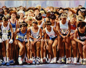 """From the Start - 24"""" x 36"""" - fine art print for runners. Makes the perfect gift for the runner in your life!"""