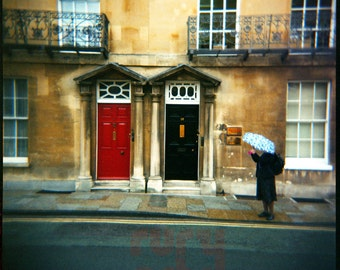 Oxford Doors - Giclée Print from Holga Photograph, Color Film