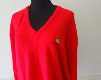 Vintage IZOD Lacoste Acrylic Sweater 1980s