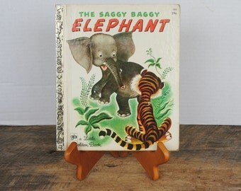 Vintage The Saggy Baggy Elephant A Little Golden Book Story Book 1972