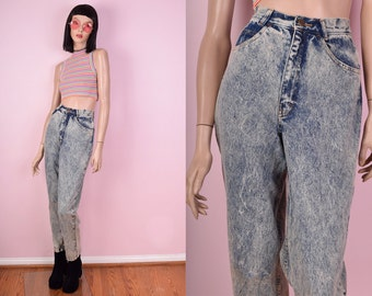 80s Acid Wash High Waisted Jeans
