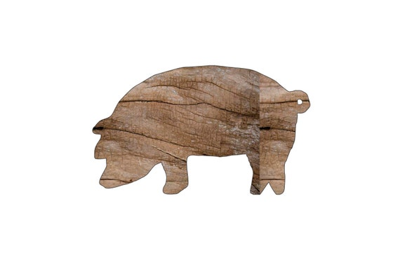 Items similar to pig wood cutout wooden shapes for Craft supplies wooden shapes