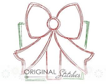 Quick Stitch Birthday Present Gift Embroidery Digital Design File  4x4 5x7 6x10 7x11 8x12