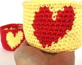 Heart Bowl Pattern - Instant Download