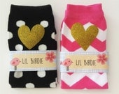 Glitter Hearts Baby Leg Warmers Birthday Party Photo Prop