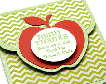 Teacher Appreciation Gifts - Teacher Gift Card Holder - Teacher Thank You Gift - Teacher Retirement Gift - Teacher Money Card Envelope