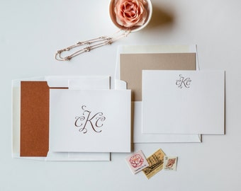 Rose Gold Couple's Stationery