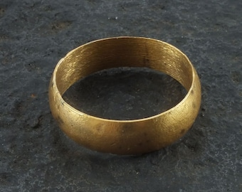 Ancient Viking Mans  Wedding Band Jewelry C.866-1067A.D. Size 10 1/2  (20.2mm)(brr1068)
