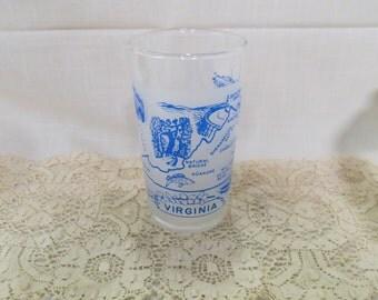Virginia Souvenir Tumbler Glass Vintage Kitchenware Kitchen Ware