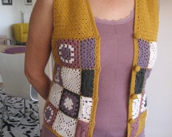 Handmade Afghan Crochet Vest - Ready for Worldwide Shipping