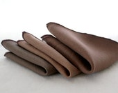 Brown Linen Cocktail Napkin Assortment- Set of 8