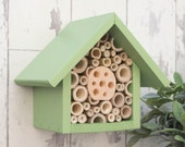Bee Hotel, Insect Home, Wildlife house, One Tier, in 'Juicy Grape'. Can be personalised
