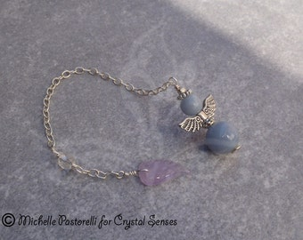 Angelic Angelite Dowsing Pendulum (DP0272)