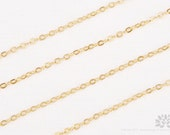 C110-MG// Matt 14k Gold Plated Cable Chain, 5M