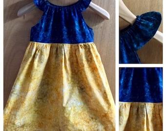 Batik Peasant Style Sundress, girls size 7