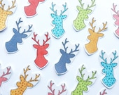 DIY Iron on Appliques (4) - Deer Head Silhouettes