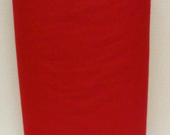Red 20% Merino Wool Felt Blend Fabric By the Yard from Woolhearts