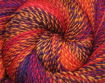 Handspun yarn - Merino wool yarn, fine sport weight - 420 yards - Carnival Memories