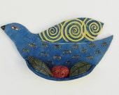ceramic wall bird; ceramic art; ceramics and pottery