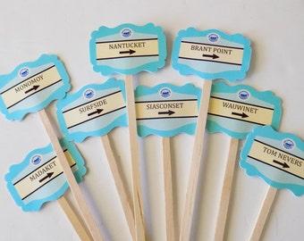 Nantucket Signs Swizzle Sticks  - set of 20