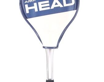 Vintage Head Tennis Racket / Metal Tennis Racket / Antique Tennis Racket / Sports Decor / Blue Tennis Racket