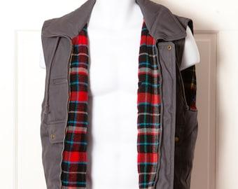 APPALACHIAN TRAIL Flannel Lined Vest - M