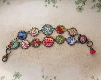 "Tin Jewelry Bracelet ""Gypsy"" Tin for the Ten Year Wedding Anniversary"