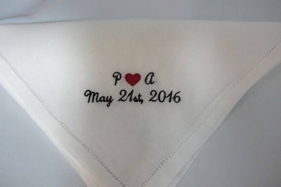 Embroidered Personalized Groomsman's Gifts Embroidered Handkerchiefs