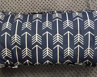 Boys nap mat navy arrows with gray